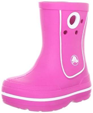 Crocs Crocband Jaunt Rain Boot (Toddler/Little Kid),Fuschia,6 M US Toddler