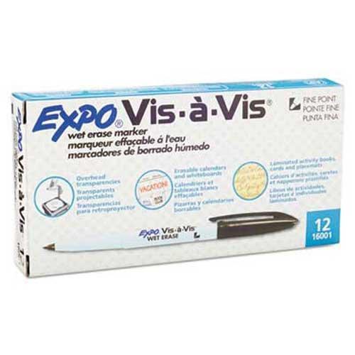 expo-vis-a-vis-wet-erase-marker-fine-point-black-dozen
