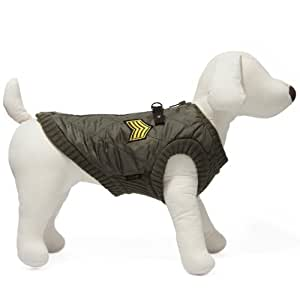 Gooby Bomber Vest for Dogs, Small, Green