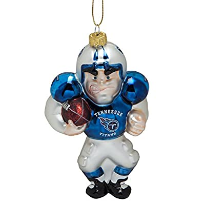 Tennessee Titans - Blown Glass Football Player Ornament