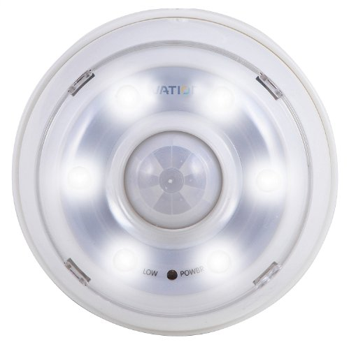 Ivation 6 Led Automatic Motion-Sensing Night Light - Battery Powered Hallway Light With A Built In Motion And Light Sensor -With Adjustable Brightness And Adjustable Light Timer (20/60/90 Seconds)