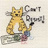Mouseloft Mini Cross Stitch Kit Can´t Resist Biscuit the Cat Collection