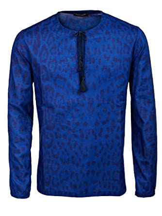 Roberto Cavalli Shirt (M-02-He-25969) - 38(US) / 48(IT) / 48(EU) - royale blue