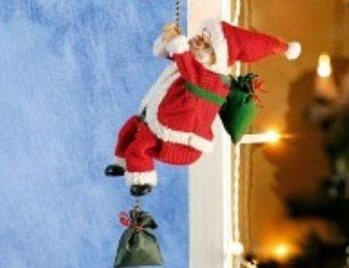Weihnachtsdekoration Kletternder