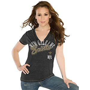 New Orleans Saints Ladies Kickstart V-Neck T-Shirt by Touch Alyssa Milano by Touch Alyssa Milano