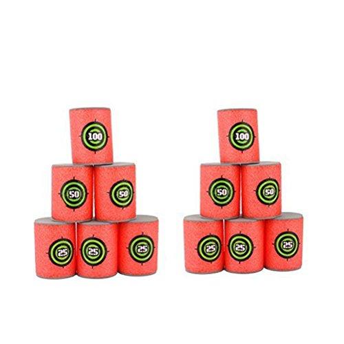 Pixnor 12pcs Dart schiuma Gun Shoot EVA Soft Bullet Target bambini giocattolo per NERF N-Strike Blasters