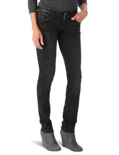 Meltin Pot - Jeans slim, donna Nero (Noir (Denim Black)) 38-40 IT (25W/34L)