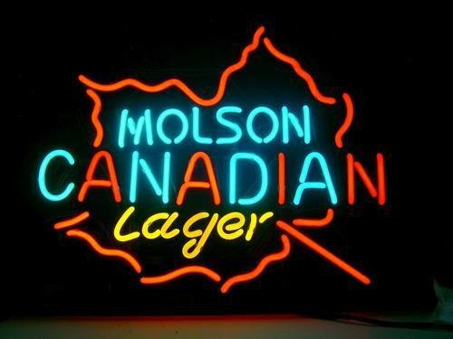 Molson Canadian Lager Logo Beer Bar Pub Store Neon Light Sign NEW Handcrafted 17*13
