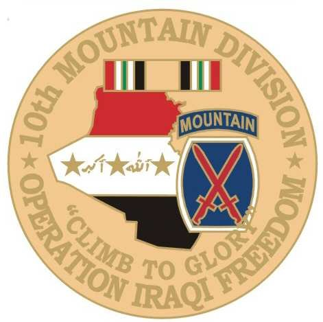 NEW U.S. Army 10th Mountain Division O.I.F. Pin