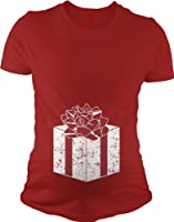 Present Baby Belly T Shirt Funny Maternity Shirt Christmas Pregnancy Tee