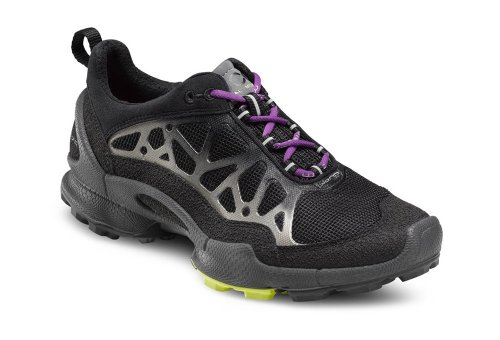 ECCO Women's Biom Trail 1.2 Trail Running Shoe,Black/Silver Metallic,40 EU/9-9.5 M US