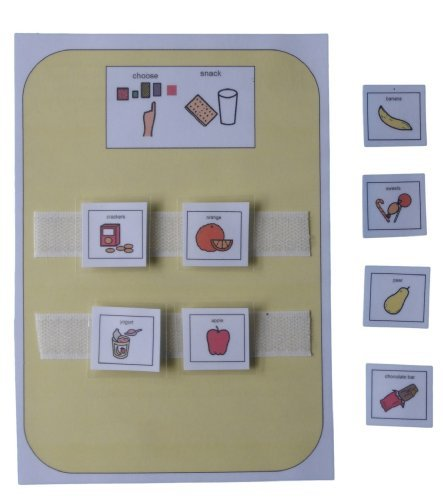 Autism Supplies And Developments Picture Exchange Communication System Snacks Choice Board