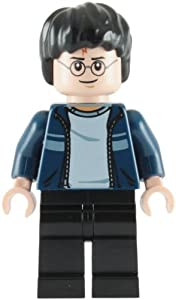 LEGO Harry Potter: Harry Potter with Dark Blue Jacket (Black Legs) Minifigure
