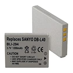 Sanyo DB-L40 Replacement Digital Battery