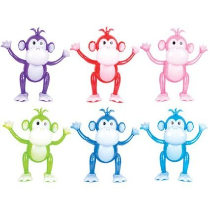 24 Inch Monkey Inflatables - 3 Pack (Colors Vary) - 1