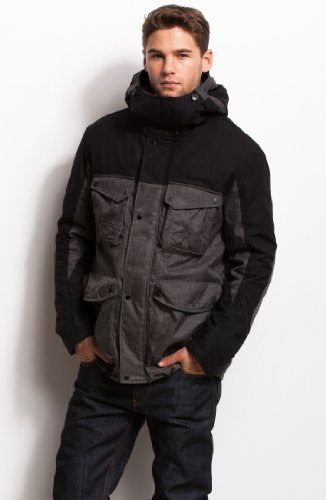 Armani Exchange Pieced Hooded Coat