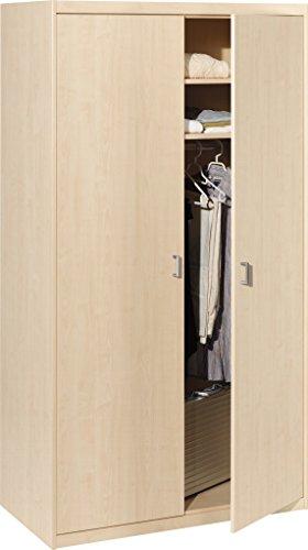 10/24 Kleiderschrank 24 Soft Plus Ahorn (106x194x54)
