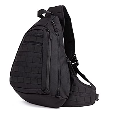 Protector Plus Tactical Military Sling Chest Pack Bag Molle Daypack Laptop Backpack Large Shoulder Bag Crossbody Duty Gear For Hunting Camping Trekking