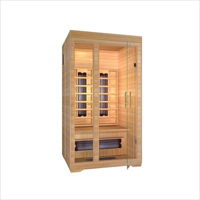 Ironman 2 Person Infrared Sauna with Radiant Floor Heat