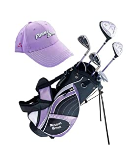 Paragon Rising Star Girls Kids Golf Clubs Set Ages 8-10 Lavender With Towel DELUXE by Paragon