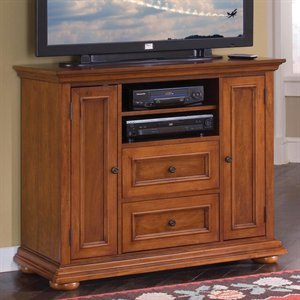 Cheap Home Styles 5527-100 Homestead Compact Credenza TV Stand, Warm (B004XGTNQ4)