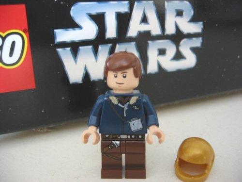LEGO STAR WARS - Minifigur seltene Variante HAN SOLO aus Set 6212 + 1 HELM in GOLD