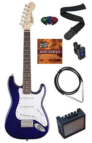 squier-by-fender-mini-strat-electric-guitar-bundle-with-amp-cable-tuner-strap-winder-picks-austin-ba