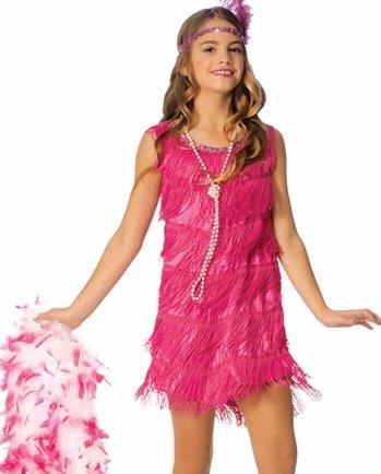 Franco Kids 1920s Pink Flapper Girls Halloween