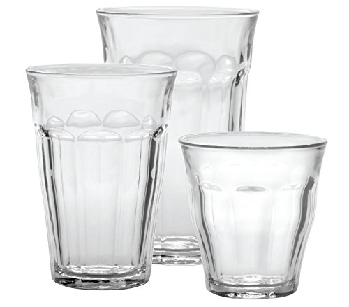 Duralex-Picardie-18-Piece-Clear-Drinking-Glasses-Tumbler-Set-Set-includes-6-8-34-oz-6-12-58-oz-6-16-78-oz
