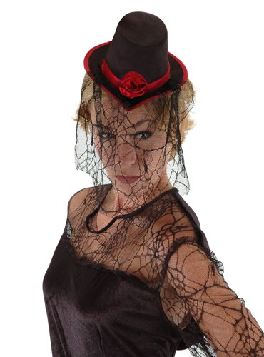 Elope Unisex Adult Little Victorian Top Hat Black One-size
