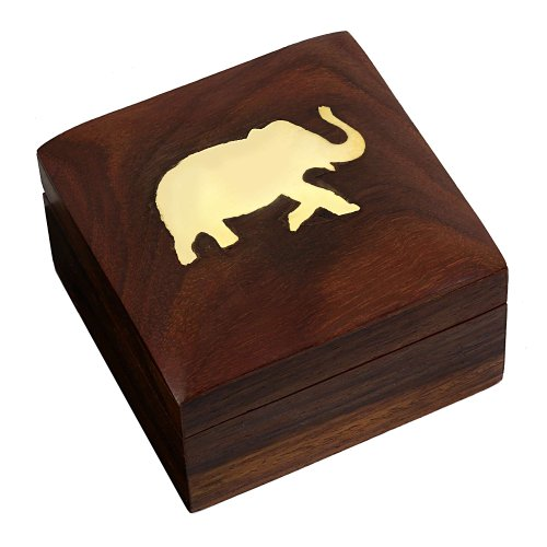 Wooden Jewelery Box Handmade Unique Gift for Her 7.62 cm x 7.62 cm x 5.08 cm