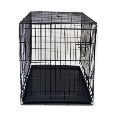 Folding Dog and Cat Kennel/Cage with ABS Tray - 42 Inches