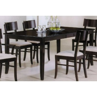 Black friday dining table with extension leaf cappuccino for Cheap black dining table