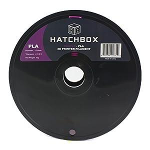 HATCHBOX 1.75mm Purple PLA 3D Printer Filament - 1kg Spool (2.2 lbs) - Dimensional Accuracy +/- 0.05mm by HATCHBOX 3D Printer