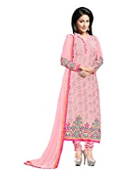 Aarti Saree Fashionable Party Wear Pink Straight Suit Available In Matching Dupatta And Bottom
