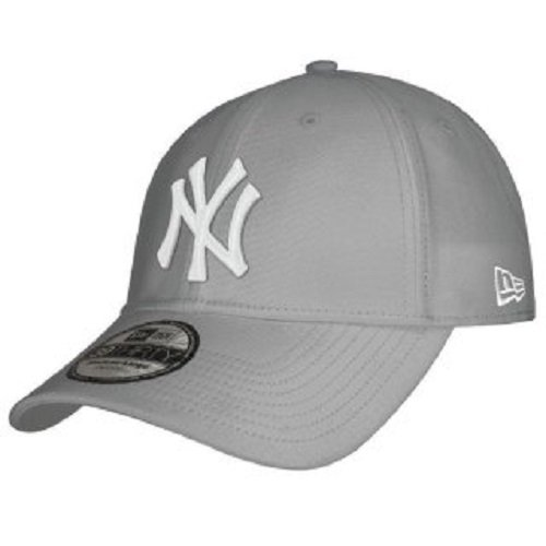 New Era - MLB Basic NY Yankees 39Thirty Stretch Back, Baseball beretto da uomo, grigio (Grey), M / L