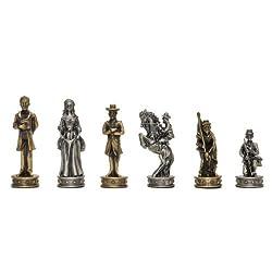 WE Games Civil War Chessmen - Pewter