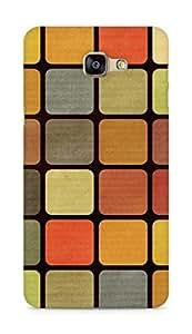 Amez designer printed 3d premium high quality back case cover for Samsung Galaxy A9 (Mosaic squares shape texture)