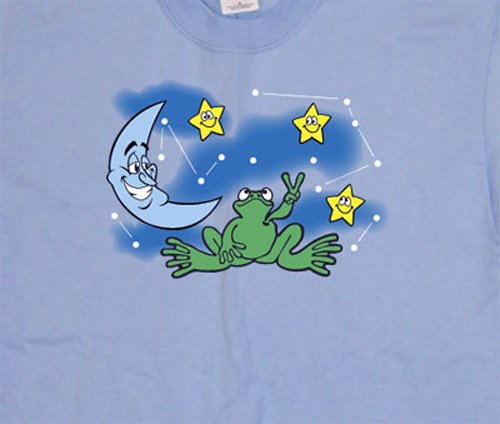 Peace Frogs Adult Night Sky Short Sleeve front-1040770