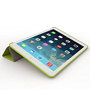 iPad Air 2 Case (iPad 6) - KHOMO DUAL Super Slim Green Cover with Rubberized back and Smart Feature (Built-in magnet for sleep / wake feature) For Apple iPad Air 2 Tablet by iPad Air 2 Case