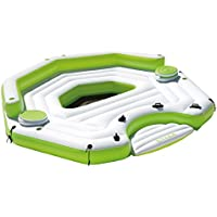 Intex Inflatable Key Largo Party Island Float with Built-In Coolers