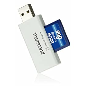 Transcend 8 GB SDHC Class 6 Flash Memory Card with Card Reader TS8GSDHC6-S5W