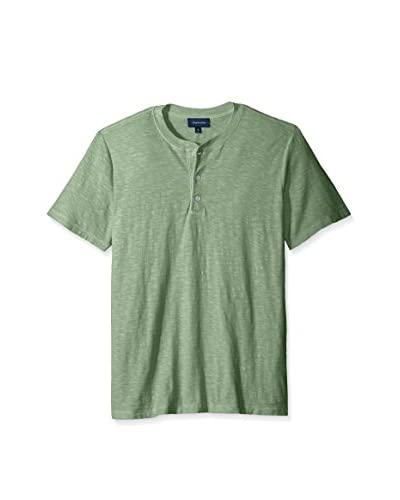 Thirty Five Kent Men's Short Sleeve Trimmed Placket Henley