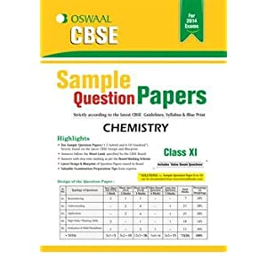 Oswaal CBSE Sample Question Papers, Chemistry for Class 11