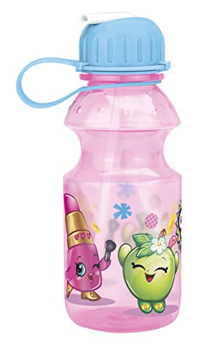 Zak! Designs Tritan Water Bottle with Flip-up Spout with Shopkins Graphics, Break-resistant and BPA-free Plastic, 14 oz. (Flips Corn compare prices)