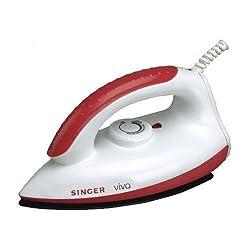 Singer Viva 1000-Watt Dry Iron (Red)