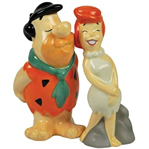Westland Giftware The Flintstones Magnetic Fred Kissing Wilma Salt and Pepper Shaker Set, 4-1/4-Inch