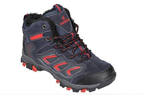 GIBRA® Trekkingschuhe, warm gefüttert, dunkelblau/rot, Gr. 38