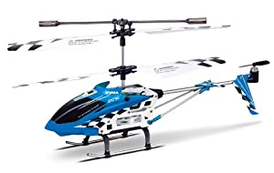 Syma S107n 3-Channel Infrared Controlled Helicopter with Gyroscopic Stability Control (Blue)