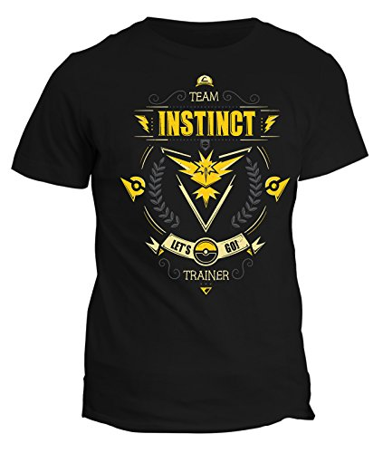 Tshirt team instinct let's go - pokemon go - trainer - istruttore - in cotone by Fashwork